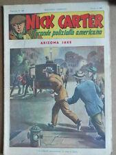 Nick Carter Il Grande poliziotto americano Anni 40 n°19 ed. NERBINI  [G369]