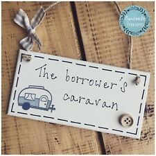 Caravan plaque sign gift family holiday camp seaside birthday name Personalised