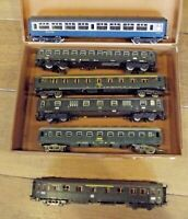 Ancien lot de Wagon Voyageurs Lima Jouef Märklin Roco Britain Vintage Ho Train