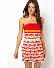 MARC Marc Jacobs SWIMWEAR Collection COVER Hayley Stripe BANDEAU Dress TAPIOCA S
