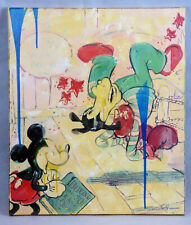"Disney Mickey Mouse  ""Ring Side"" Fine Art Giclee Lim Ed Signed Jim Salvati 1/195"