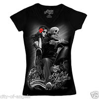 Biker Babe Junior Women DGA David Gonzales T Shirt
