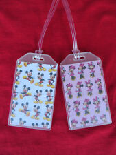 MICKEY & MINNIE MOUSE CUSTOM LUGGAGE TAGS SET of 2 - TOGETHER FOREVER - NAME ID