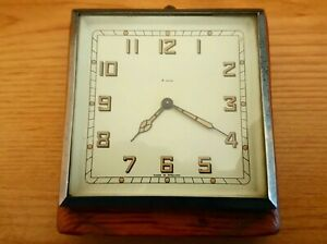 WORKING PERFECTLY VINTAGE ART DECO SMITHS WOODEN CASED 8 DAY WALL HANGING CLOCK