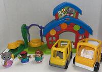 Fisher Price Little People Animalville School Teacher Teeter Totter Bus Play Set