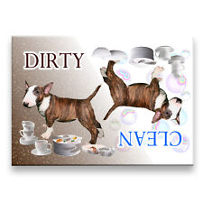 Bull Terrier Clean Dirty Dishwasher Magnet No 2 Brindle