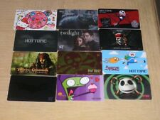 Hot Topic    12 different new and used collectible gift cards