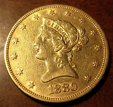 US 1880 Gold $10 Eagle XF Liberty Head Cleaned