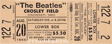 1  BEATLES VINTAGE UNUSED FULL CONCERT TICKET 1966 Cincinnati Ohio laminated lrb