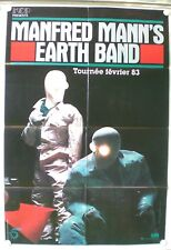 MANFRED MANN'S EARTH BAND - ORIGINAL POSTER – FRENCH TOUR 1983