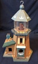 "Vintage Decorative Wooden Lighthouse 11.5"" Birds House"