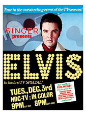 Elvis Presley - US promotional poster reprint NBC comeback special 1968
