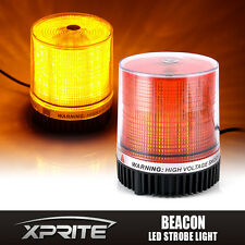 30 LED Magnetic Mount Strobe and Rotating Beacon Rooftop Warning Light Amber