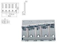 Bass bridge ponte BB 204 4 saiter CROMO string through MASSICCIO PESANTE + Sustain