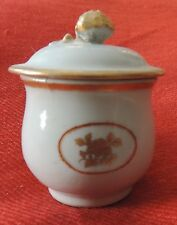 Antique Chinese Export Porcelain Cup & Cover Pot de Creme Syllabub 19th century