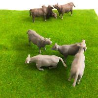 Scale Cows 28mm Wargaming - Model Raiway Farm Animals Resin Wargame Scenery 1/54