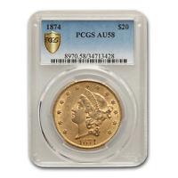 1874 $20 Liberty Gold Double Eagle AU-58 PCGS - SKU#162529