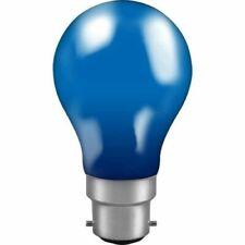 60 Watt BC Bayonet Fitting Bulb Blue GLS - Colour Pack of 5