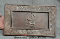"""9,2 """"Old China Holz Hand geschnitzt Dynasty Palace Lotus Blume Inkstone inkslab"""