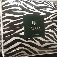🦓 NEW Ralph Lauren Rodeo Drive KING Comforter Cotton Sateen Black White Zebra