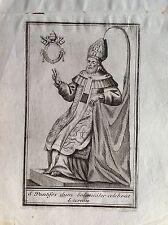 VINCENZO CORONELLI franciscano PAPA CELEBRA MASA aguafuerte XVIII sec Venezia