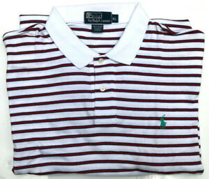 Men's Polo Ralph Lauren Polo S/S NEW White/Red Regular Fit Size XL