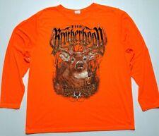 Bone Collector The Brotherhood Shirt Mens Size 2XL Long Sleeve Orange