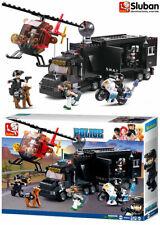 Sluban Mobile Command Centre Block Bricks Model Police Helicopter Toy SWAT B0659