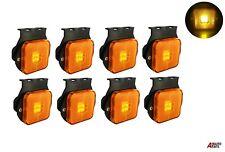 "8x Led Recovery Lights Side Marker Orange Amber Trailer Truck Lorry 24v 2.55"""