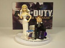 GAMER Funny Wedding Cake Topper Bride and Groom COD Adv War PS4 GOT