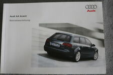 """AUDI A4 Avant Betriebsanleitung """"2006"""" Bedienungsanleitung, Handbuch"""