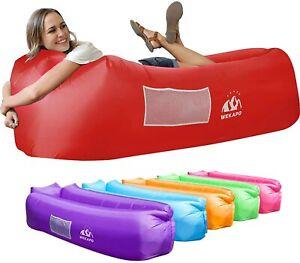 Wekapo Inflatable Lounger Air Sofa Hammock-Portable,Water Proof& Anti-Air Red