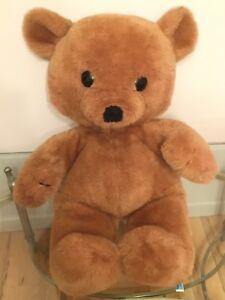 "Dakin Jumbo 33"" Brown CUDDLES TEDDY BEAR 1980 Vintage Plush Toy Doll"