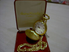 Andre Rivalle [ Wind Up ] Mechanical Pocket Watch 17 Jewel Gold Tone With Case