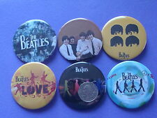 "The Beatles John Lennon New Set Of 6 Large 2 1/4"" Buttons Pins"