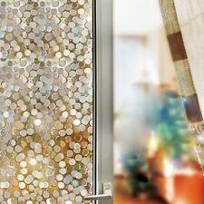 1PC Bling Bling Glueless Static Glass Film Glass Window Wall Sticker Decor Q