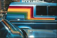 1970S DETROIT RAINBOW REFLECTION ON CAR HOOD ARTISTIC ABSTRACT VTG 35MM SLIDE