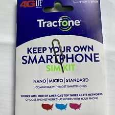 New listing Tracfone Byop Bring Your Own Phone Sim Card Silver Sim Eject Pin 3/1 Kit Gsm new