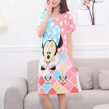 Women's Loose Pajama Sleepwear Nightgowns Short Sleeve Girl's Cute Nightdress