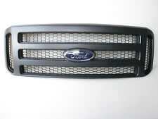 06-07 Ford BLACK MATTE Grille CONVERSION Fits 1999-2004 SuperDuty F250 F350 F450