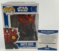 Ray Park Autographed Star Wars Darth Maul Funko POP Signed Phantom Beckett COA
