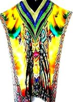"Kaftans/ Long /Free Size /""Embellished"" /100% Crepe Viscose /Vibrant / RR$189.95"