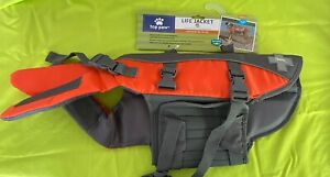 Top Paw Life Jacket For Dogs - Bright Color & Reflective - Orange