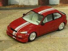 Rally Inspired Honda Civic Hatchback Tuner Car 1/64 Scale Limited Edition I10