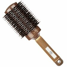 HS Round Hair Brush Blow Dry Drying Boar Bristle 53mm Large Round Barrel Nano T