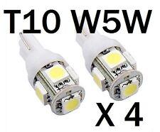 4 X T10 LED Side Wedge Parking Light Bulbs Number Plate Lights FG BF BA AU EL EF