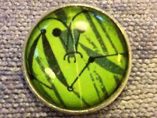 "Charley Harper One Praying Mantis Sewing Button 1"" Mid Century Modern Charles H2"