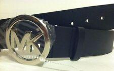 MICHAEL KORS Black Belt w/Medium Silver MK Buckle Sz. Small, Med. Or Large $55