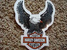 Harley Davidson Silver Eagle Window Decal Sticker *Inside Application Clear Back