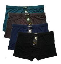 """Fashion 4pcs Men's Soft Underwears Bamboo Fiber Boxer Briefs L 30""""-40"""" 4colors"""